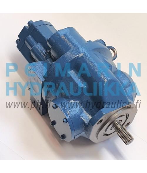31M8-10020 Hyundai R55-7, R55-7A, T5V2D25-TG2-C hydraulipumppu, pääpumppu, mäntäpumppu, säätötilavuuspumppu, korjaus, huolto, varaosat