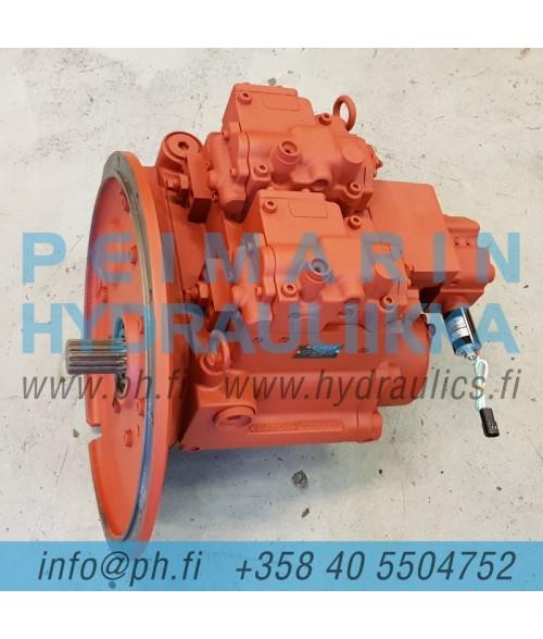 31Q6-15010 Hyundai R210W-9, REMAN, Kawasaki K3V112DP-1L9R-9P49-D hydraulipumppu, pääpumppu, mäntäpumppu, säätötilavuuspumppu, korjaus, huolto, varaosat
